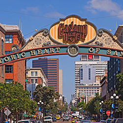 Buildings in a city, Gaslamp Quarter, San Diego, California, USA
