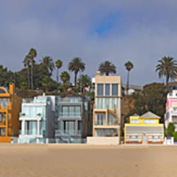Houses on the beach, Santa Monica, Los Angeles County, California, USA