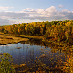 Lake in autumn, Wood Lake, Superior National Forest, Yellow Medicine County, Minnesota, USA