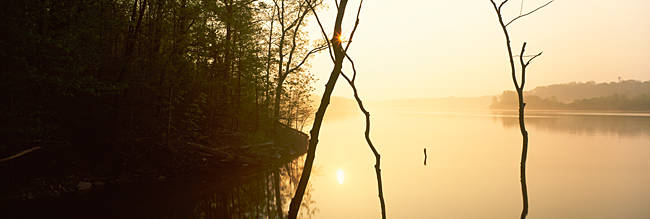 Lake at sunset, Caesar Creek Lake, Caesar Creek State Park, Ohio, USA