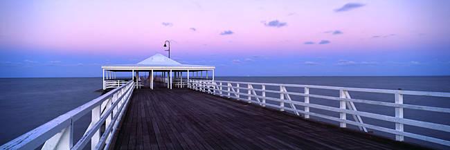 Pier at dusk, Shorncliffe Pier, Shorncliffe, Brisbane, Queensland, Australia