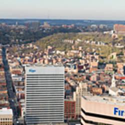 Aerial view of a city, Cincinnati, Hamilton County, Ohio, USA 2010