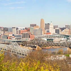 High angle view of a city, Cincinnati, Hamilton County, Ohio, USA