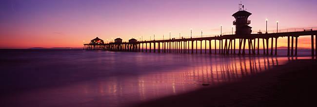 Pier in the sea, Huntington Beach Pier, Huntington Beach, Orange County, California, USA