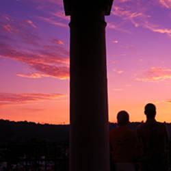 Sunset viewed from city hall, Santa Barbara, California, USA