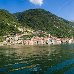 Town at the waterfront, Sala Comacina, Lake Como, Como, Lombardy, Italy