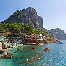 Rock formations in the sea, Faraglioni, Marina Piccola, Capri, Naples, Campania, Italy