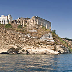 Castle on an island, Castello Aragonese, Ischia Island, Procida, Campania, Italy