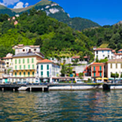 Town at the waterfront, Tremezzo, Lake Como, Como, Lombardy, Italy