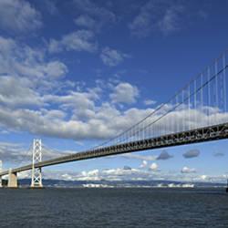 Bridge across a bay, Bay Bridge, San Francisco Bay, San Francisco, California, USA