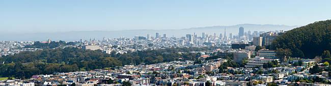 High angle view of a city, San Francisco, California, USA