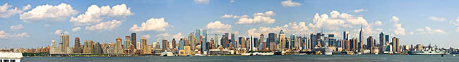 City at the waterfront, New York City, New York State, USA 2010