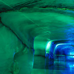 Tunnel in the Ice Palace, Jungfraujoch, Bernese Alps, Switzerland