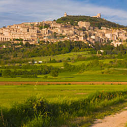 Village on a hill, Assisi, Perugia Province, Umbria, Italy
