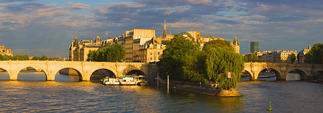 Arch bridge over a river, Pont Neuf, Seine River, Isle de la Cite, Paris, Ile-de-France, France