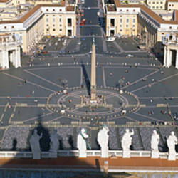 High angle view of a town square, St. Peter's Square, Vatican city, Rome, Lazio, Italy