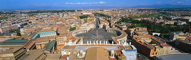 Overview of the historic centre of Rome and St. Peter's Square, Vatican City, Rome, Lazio, Italy