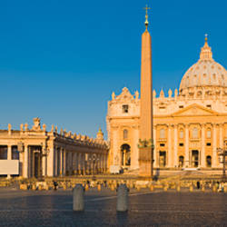 Sunlight falling on a basilica, St. Peter's Basilica, St. Peter's Square, Vatican city, Rome, Lazio, Italy