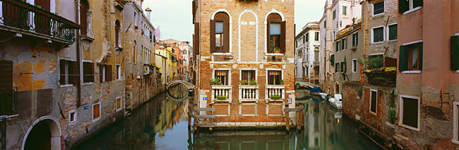 Buildings along a canal, Grand Canal, Venice, Veneto, Italy
