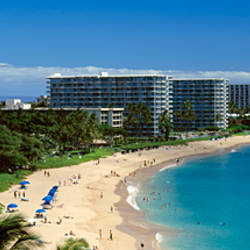 Hotels on the beach, Kaanapali Beach, Maui, Hawaii, USA