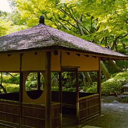 Rest house in garden, Happo-En Gardens, Tokyo Prefecture, Japan