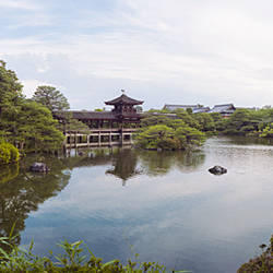 Reflection of clouds in a pond, Heian Shrine, Kyoto Prefecture, Japan