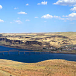 River viewed from a terrace of Maryhill Museum of Art, Washington State, USA