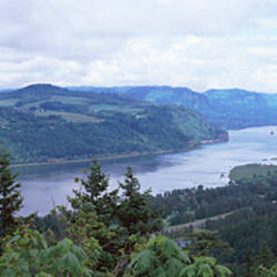 River, Columbia River, Crown Point, Columbia River Gorge, Oregon, USA