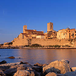 Town at the waterfront, Antibes, Alpes-Maritimes, Provence-Alpes-Cote d'Azur, France
