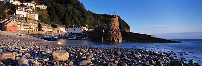Village on the coast, Clovelly, North Devon, Devon, England
