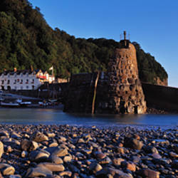 Village on the coast, Clovelly, North Devon, Devon, England