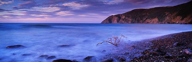 Island in the ocean, Foreland Point, Lynmouth, North Devon, Devon, England