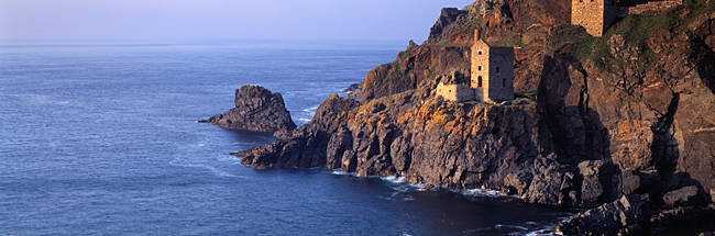 Tin mines at the coast, Botallack Mine, Cornwall, England