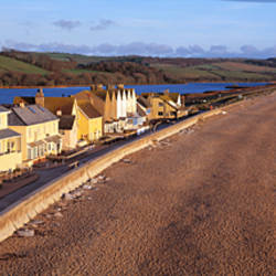 Cottages at the coast, Torcross, Slapton Sands, Slapton, Start Bay, Devon, England