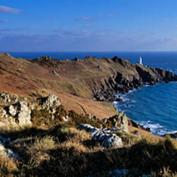 Coastline, Start Point Lighthouse, South Devon, Devon, England