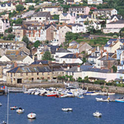 Town on an island, Salcombe, South Hams, Devon, England