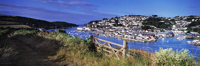 Town on an island, Salcombe, South Devon, Devon, England