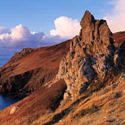 Cliffs on the coast, Start Point, South Hams, Devon, England