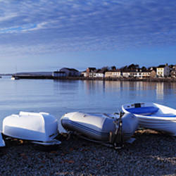 Boats on the beach, Instow, North Devon, Devon, England