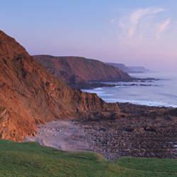 Coastline, St. Catherines Tor, Spekes Mill Mouth, North Devon, Devon, England