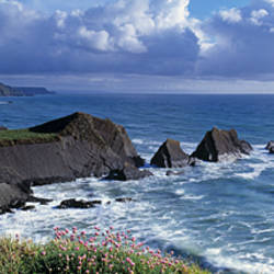 Clouds over the ocean, Hartland Quay, Bideford, North Devon, Devon, England