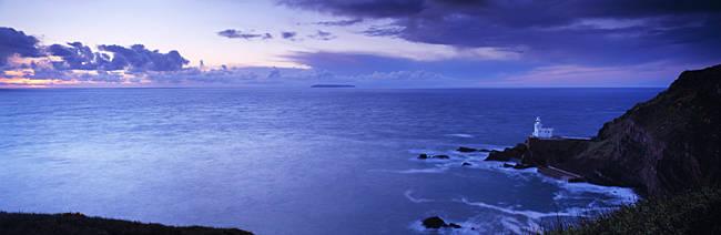 Lighthouse on the coast, Hartland Point, North Devon, Devon, England