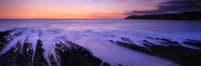 Rock formations on the coast, Croyde, North Devon, Devon, England