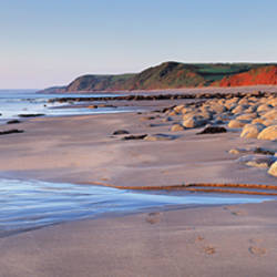 Rocks on the beach, Peppercombe, North Devon, Devon, England