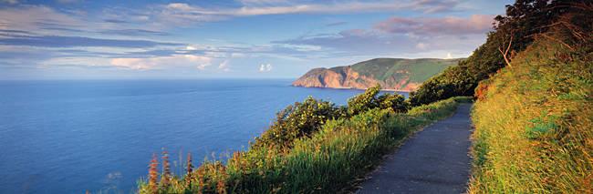 Coast path, Foreland Point, Lynton, North Devon, Devon, England