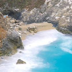 Rocks on the beach, McWay Falls, Julia Pfeiffer Burns State Park, Monterey County, Big Sur, California, USA