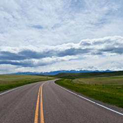 Road passing through a landscape, US Route 89, Montana, USA