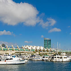 Buildings in a city, San Diego Convention Center, San Diego, Marina District, San Diego County, California, USA