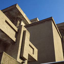 Low angle view of a church, Unity Temple, Lake Street, Oak Park, Cook County, Illinois, USA