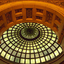Interiors of Tiffany Dome, Chicago Cultural Center, Chicago, Cook County, Illinois, USA